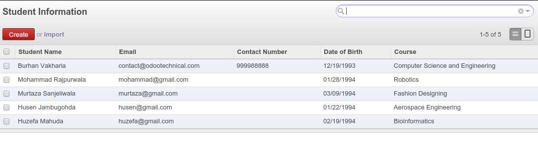 Learn - How to create a Tree View in Odoo 8 to 12 with